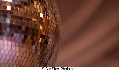 Party lights disco ball - Shiny disco ball on nightclub HD