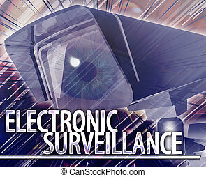 Electronic surveillance Abstract concept digital illustration