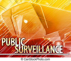 Public surveillance Abstract concept digital illustration