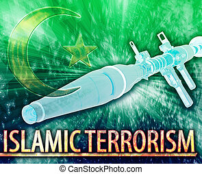 Islamic terrorism Abstract concept digital illustration -...