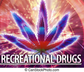 Recreational drugs Abstract concept digital illustration -...