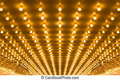 marquee lights - golden bulbs marquee lights background