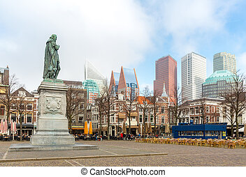 The Hague Netherlands - Downtown of The Hague Netherlands,...