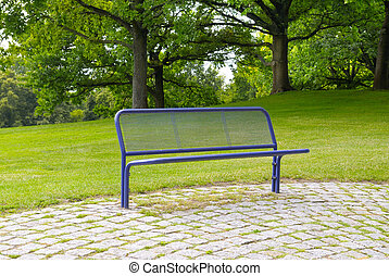bench in a summer park - bench for relaxing in the summer...