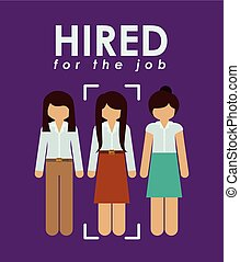 Human Resources design - Humain Resources design over purple...