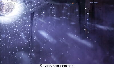 Party fog with multi colored light rays - Multicolored...