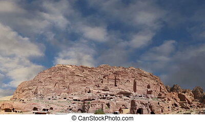 Petra, Jordan, Middle East -- it is a symbol of Jordan, as...