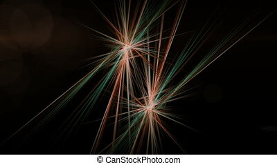 Colorful Fibers in Motion, Rays of