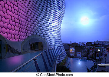 bullring moon birmingham night - bullring building and view...