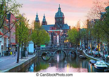 The Basilica of Saint Nicholas (Sint-Nicolaasbasiliek) in...