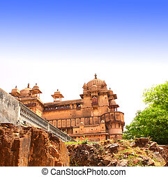 Palace in Orcha, Madhya Pradesh state, India - Royal palace...