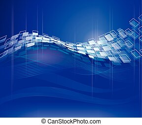 Abstract Tech Background - Abstract blue technical modern...