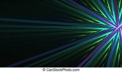 Colorful Intersected Sticks Motion - Bright violet and green...