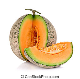 Melon isolated on the white background.