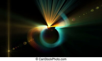 Colorful Fibers in Motion, Rays - rays of light in dynamic...