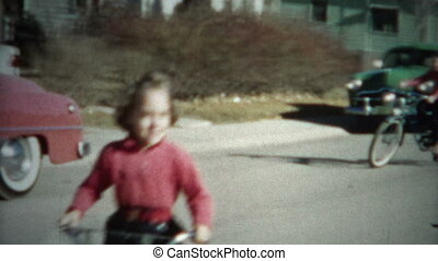 8mm Film Kids Riding Bikes 1956 - A unique vintage 8mm home...