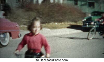8mm Film Kids Riding Bikes 1956 - A unique vintage 8mm home...