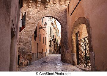 Old street of Palma de Mallorca