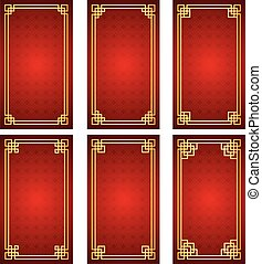 chinese frame - Chinese traditional template on Seamless...