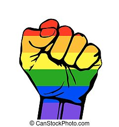 Vector card lgbt support phrase. fight for gay rights -...