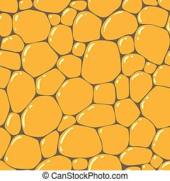 Seamless pattern or background of paving stones texture with...