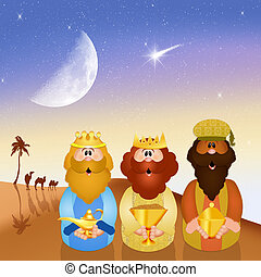 Wise men - illustration of wise men