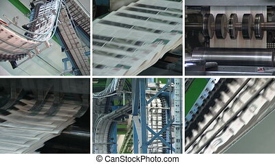 newspaper print collage - Newspapers printing technology...