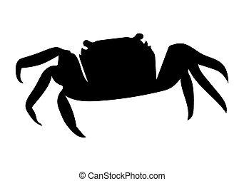 black crab silhouette