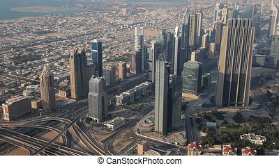 View From Burj Khalifa Out On Duba - Dubai is a city and...