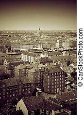 copenhagen cityscape Denmark - copenhagen city centre....