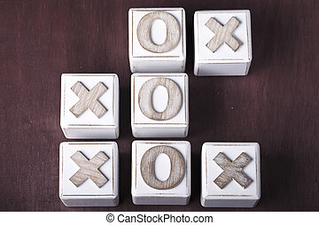 tic-tac-toe - a Tic-tac-toe on wooden cubes