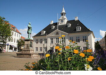 building randers denmark - Building and square of danish...