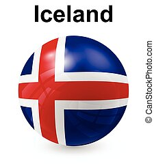 iceland official state flag