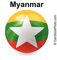 myanmar official state flag