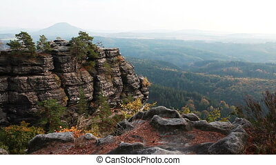 Mountains Bohemian Switzerland - Mountain View in Bohemian...