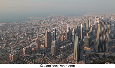 View From Burj Khalifa Out On Dubai - Dubai is a city and...