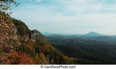 Mountains Bohemian Switzerland - Mountain View in Bohemian...
