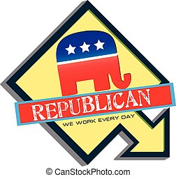 Symbol of US Republican Party - The symbol of the US...