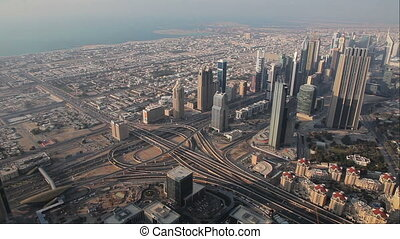 View From Burj Khalifa Out On Dubai