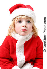 child santa clause sad - santa clause or father christmas...