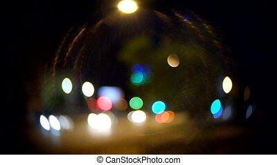 C-mount lens circular bokeh and flares blurred defocused...