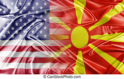 USA and Macedonia Relations between two countries Conceptual...