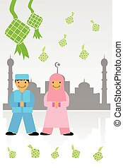 Greeting Card - Ramadhan Kareem 02B - vector Greeting Card -...