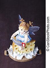 little fairy sculpture