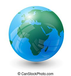 planet map - planet earth map - Africa view