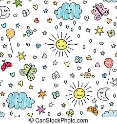 seamless pattern for kids - colorful seamless pattern for...