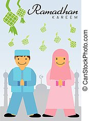 Greeting Card - Ramadhan Kareem 05B - vector Greeting Card -...
