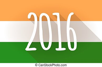 India flag icon with a 2016 sign