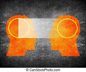 telepathy concept digital illustration