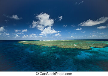 Great Barrier Reef Clam Gardens - View of the great Barrier...